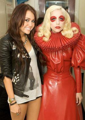 Miley meets Gaga