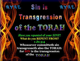 sin is transgression of Torah