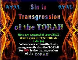sin is transgression of Torah